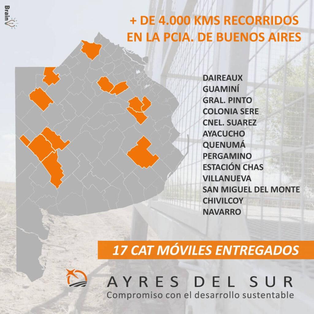 Mapa de CAT entregados en Buenos Aires